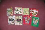 Large Lot Victorian Postcards Wrapping Paper Christmas 1980and039s Made Lots Variety