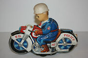 Tin Motorcycle Toy Haji P.d. Cycle No.7 Made In Japan In 1960and039s