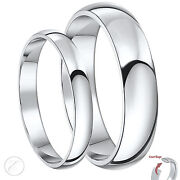 New His And Hers Palladium 950 Wedding Ring Sets 3and5mm 4and6mm 5and7mm Court Bands