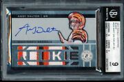 1/1 Bgs 9 Mint Andy Dalton 2011 Totally Certified Black Bengals Patch Auto Rc