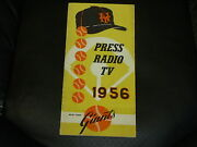 Vintage 1956 New York Giants Press Media Guide Excellent