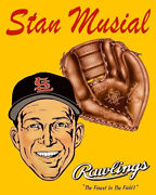 Stan Musial 1950's Rawlings Glove Advertisement Photo 8x10 Buy Any 2 Get 1 Free