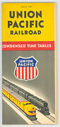 1947 Union Pacific Railroad Time Table Schedule Old Vintage