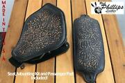 Rich Phillips Leather Motorcycle Seat Mounting Kit Passenger Pad Harley Chopper