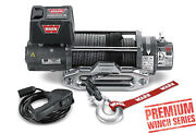 Warn 8000 Lb Jeep Truck And Suv Premium Series M8000-s Winch 12v Synthetic Rope
