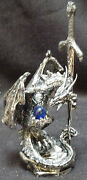 Possession Dragon Sword On Rock With Crystal Letter Opener Figure Statue H6.5