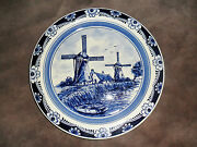 Delfts Blauw Hand Painted Set Of 12 Bread Plates Two Mills Original