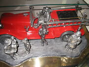 Michael Ricker Pewter Fire Engine/twin Towers/collectable/christmas/911