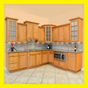 90 Kitchen Cabinets Richmond All Wood Honey Stained Maple Group Sale Aaa Kcrc21