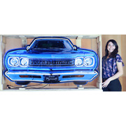 Neon Sign 60 Plymouth Road Runner Grille 1969 Steel Can Dadand039s Garage Wall Lamp