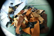 One Two Lb. Bag Scrap Leather Pieces Soft Leather For Craft Art Decor Design