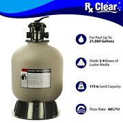 Rx Clear Radiant 19 Inch Above Ground Swimming Pool Sand Filter W/ 6-way Valve