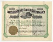 1907 Lake Superior Iron And Chemical Co. Stock Certificate