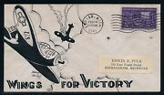926 Dorothy Knapp Handpainted Us Patriotic Wwii Cht Wings For Victory Hv5451