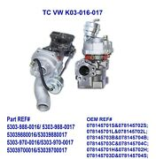 Twin Turbo Charger For 01-05 Audi Allroad 2.7t Ajk Are Bes Agb V6 53039880016/17