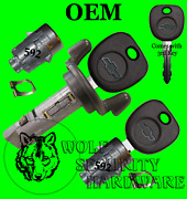 Silverado Others 2001 Ignition Key Switch Cylinder And Door Lock Set 3 Chevy Keys