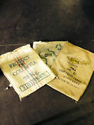 Lot Of 10 Assorted Burlap Bags Coffee Bags Sacks - Wall Art,storage,crafting,ect