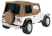 Rampage Complete Soft Top W/ Frame And Tint For 87-95 Jeep Wrangler Yj 68217 Spice