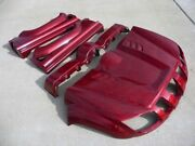 New 2004-2012 Yamaha Rhino Oem Factory Hood Fenders And Body Red Ghost Flames