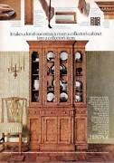 1972 Heritage Vintage 70and039s Furniture Collectorand039s Cabinet Print Ad