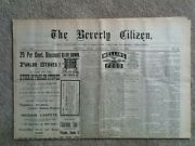 5 Diff. 1891 Vintage Newspapers The Beverly Citizen, Beverly, Ma Old Ephemera