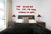 Banksy Graffiti 'the Grumpier You Are..' Large Wall Stickers Removable Decals Uk