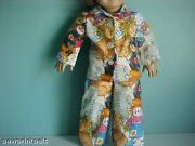 Handmade Flannel Wizard Of Oz 2-piece Pajama Set Made To Fit American Girl Dolls