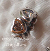 Space In My Heart Authentic Pandora Clear Cz/silver Valentine 2014 Spacer/charm