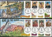 2869 A // T Legends Of The West 14 Diff Collins Hand Painted Fdc Cachet Br689