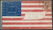 26 On Union Civil War Patriotic Cover F-o-23 Tied Pittsburgh Pa June 30 Br756