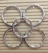 Ford Model A Shay Deluxe Replica 18 Chrome Beauty Rings Trim Ring Set Of 5