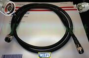 Times® 5-50' Rp-tnc To N Male Wifi Cable Biquad Usb Linksys Cisco Wrt54g Lmr400