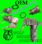 Gm Oem Chrome Ignition Switch And Door And Trunk Lock Key Cylinder Set With Gm Keys