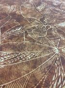 Outdoor Upholstery Fabric- Native Orchid Floral / Raffia 2.25 Yd