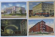 3 Linens And1913 Hammond Indiana City Hall Hotel Street And Hospital View Postcards