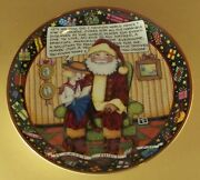 Mary Engelbreit Plate It Can't Hurt To Ask Santa Christmas Holiday Danbury Mint