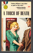 A Touch Of Death Charles Williams-1st Print 1954 Gold Medal 434 Saul Tepper Cov