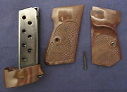 Walther Pp Target Grip Stocks With Thumb Rest And Box Magazine. Original Post War