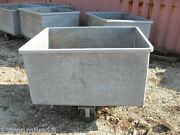 Large Metal/steel Industrial Galvanized Scrap Bins Container W/casters Chicago