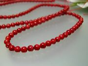 Antique Untreated 25.5loose Strand Natural Red Sea Coral 4mm Beads For Necklace