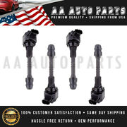 Set Of 4 High Performance Ignition Coil For 02-06 Nissan Sentra 1.8l Uf351 C1397