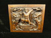 Wood Carved Relief Plaque – High Priest Laocoon Eaten By Serpents - Circa 1800