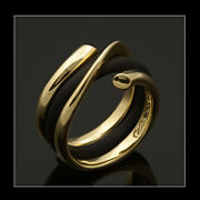 Georg Jensen Gold Ring With Rubber Band - Magic 1314