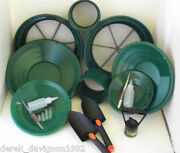 Se Green Mini / Large Gold Classifier Screen And Gold Pan Panning Kit