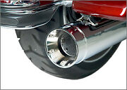 Supertrapp Stout Slip-on Muffler Chrome Harley Touring 10-15 With Dual Exhaust