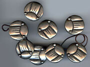 Hector Aguilar Rare Vintage Mexico Set Of Large Sterling Silver Frog Buttons
