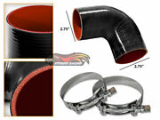 Blk Silicone Elbow Coupler Hose 4ply 2.75 70mm Supercharger Intake Intercooler