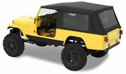 Bestop Classic Supertop Tinted Windows Black Denim For 81-85 Cj-8 Scrambler