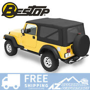 Bestop Sailcloth Replace A Top Tint Black For 04-06 Jeep Wrangler Unlimited