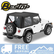 Bestop Sailcloth Replace A Top Clear Window Blk Crush For 88-95 Jeep Wrangler Yj